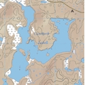 Picture of Boundary Waters Canoe Area Wilderness (BWCAW) and Quetico Provincial Park Maps Map 23 - Iron Range, Canthook and Jinx Lakes