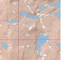 Picture of Boundary Waters Canoe Area Wilderness (BWCAW) and Quetico Provincial Park Maps Map 30 - Red Pine, Badwater and Snow Lakes