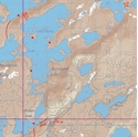 Picture of Boundary Waters Canoe Area Wilderness (BWCAW) and Quetico Provincial Park Maps Map 35 - Sturgeon, Burntside and Jean Lakes