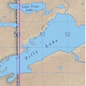 Picture of Boundary Waters Canoe Area Wilderness (BWCAW) and Quetico Provincial Park Maps Map 41 - Tilly, Windigoostigwan