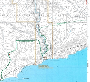 Picture of Tom Lake Topographic Map