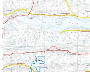 Picture of Grand Marais Lake Topographic Map