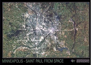 Picture of Minneapoils / St. Paul from Space