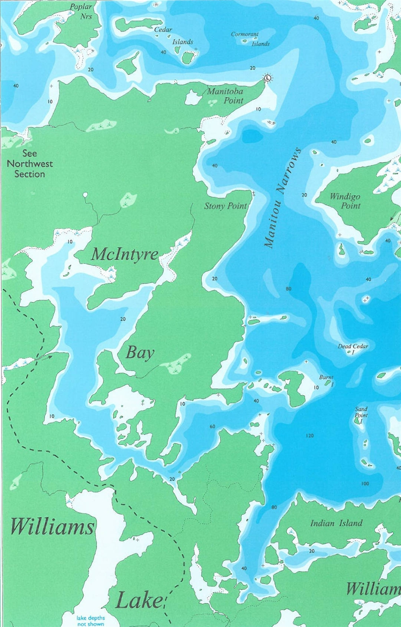 Themapstore lac seul southwest section for Lac seul fishing