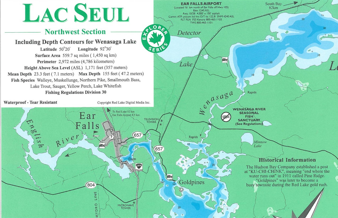 Themapstore Lac Seul Northwest Section