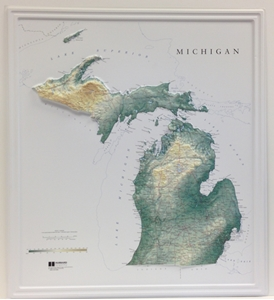 Picture of Michigan Raised Relief Map
