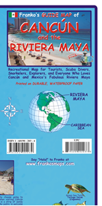 Picture of Franko's Guide Map of Cancun and the Riviera Maya