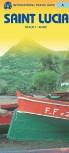 Picture of International Travel Maps - Saint Lucia Travel Map