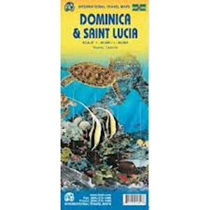 Picture of International Travel Maps - Dominica & Saint Lucia Travel Map