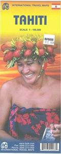 Picture of International Travel Maps - Tahiti Travel Map