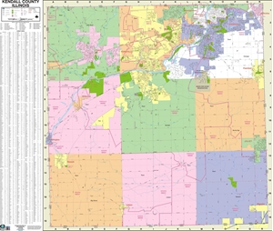 Picture of Kendall County Illinois Wall Map
