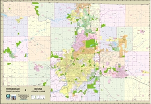 Picture of Boone County & Winnebago County Illinois Wall Map