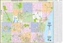 "Picture of Ozaukee County & Washington County Street Wall Map SIZE 50"" x 35"""