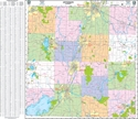 """Picture of Jefferson County Wisconsin Street Wall Map SIZE 56"""" x 48"""""""