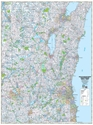 "Picture of Southeastern Wisconsin Highway Wall Map SIZE 48"" x 64"""