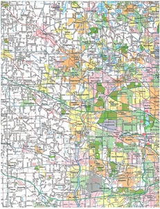 Picture of Northern Illinois Folded Road Map