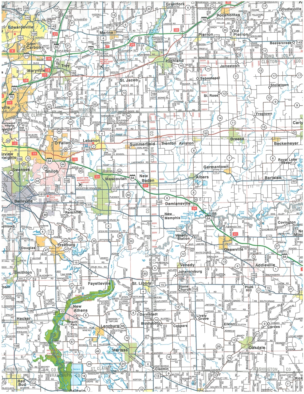 Home illinois maps atlases amp guides travel road maps southern