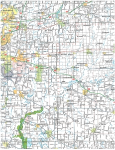 TheMapStore Southern Illinois Folded Road Map