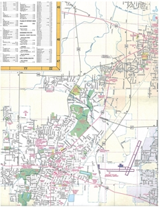 Picture of DeKalb Illinois Folded Street Map