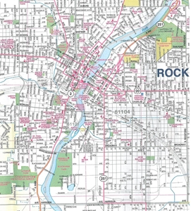TheMapStore RockfordRockford Illinois City Street