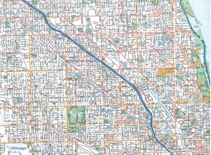 Chicago Map Streets.Themapstore Chicago Folded City Street Mapdowntown