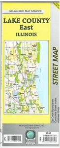 Picture of Lake County East Illinois Street Map
