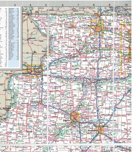 Picture of Illinois Easy to Fold State Map