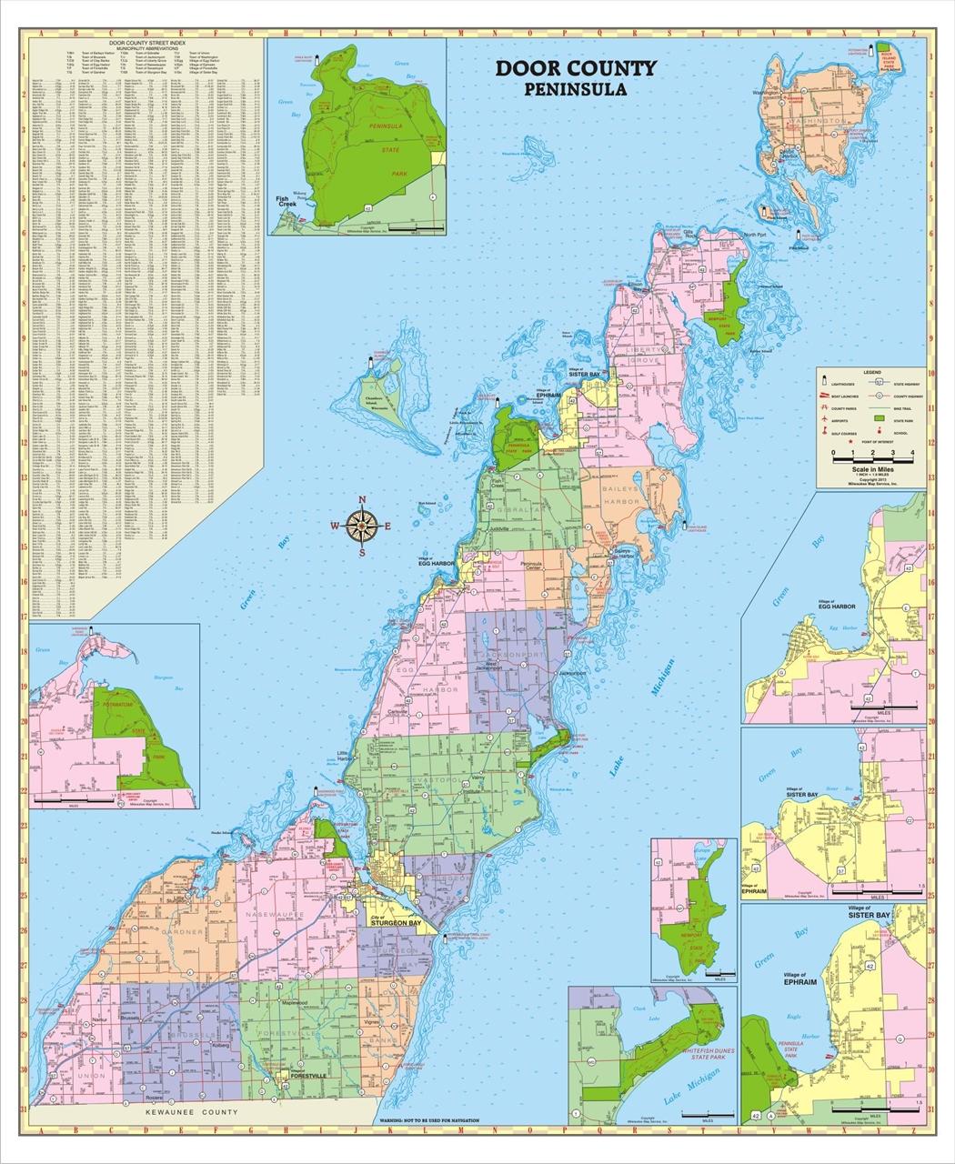 TheMapStore Door County Wisconsin Wall Map  sc 1 st  bnhspine.com & 21 brilliant Door County Wisconsin Map \u2013 bnhspine.com