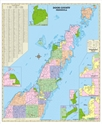 "Picture of Door County Wisconsin Wall Map SIZE 33"" x 40"""