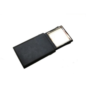 "Picture of 2"" x 2"" Rectangular Retractable LED Lighted Handheld Magnifier 2X Lens"