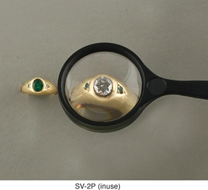 "Picture of 2"" Round Non-Lighted Handheld Magnifier 3X Lens"