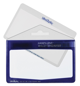 "Picture of 3-1/4"" x 2"" Wallet Size Non-Lighted Handheld Magnifier 2X Lens"