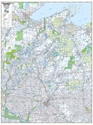 """Picture of Northwestern Wisconsin Highway Wall Map SIZE 48"""" x 63"""""""