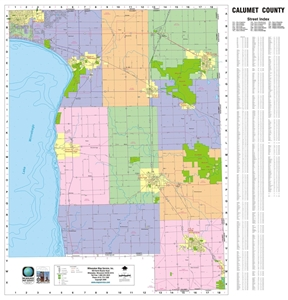 Picture of Calumet County Wisconsin Wall Map