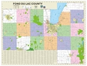 "Picture of Fond du Lac County Wisconsin Wall Map SIZE 63"" x 48"""