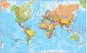 "Picture of Maps International World Wall Map - (World Map) - Blue Ocean Style - Size 41"" x 24"""