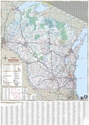 "Picture of Wisconsin State Highway Wall Map 48""X68"""