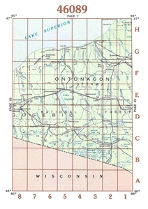 Picture of 46089 - Upper Michigan Topographic Maps