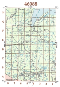 Picture of 46088 - Upper Michigan Topographic Maps