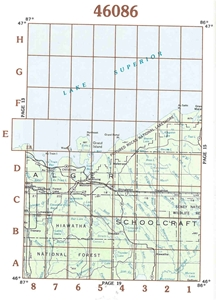 Picture of 46086 - Upper Michigan Topographic Maps