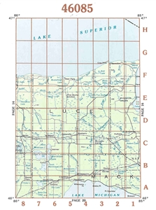 Picture of 46085 - Upper Michigan Topographic Maps
