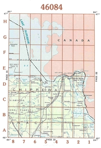 Picture of 46084 - Upper Michigan Topographic Maps