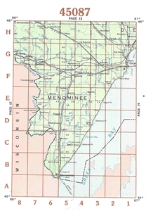 Picture of 45087 - Upper Michigan Topographic Maps
