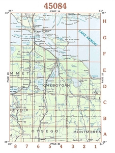 Picture of 45084 - Upper Michigan Topographic Maps