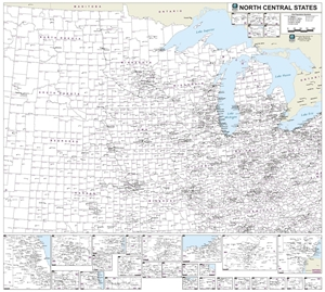 Picture of North Central United States County & Town Marketing Map