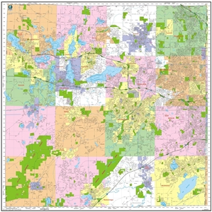 Picture of Waukesha County Wisconsin Wall Map