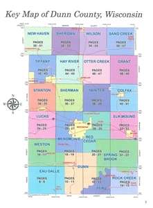 TheMapStore | Dunn County Wisconsin Plat Book on