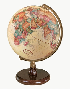 "Picture of Quincy 9"" World Globe"