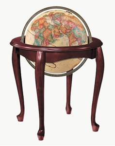 "Picture of Queen Anne 16"" World Globe"
