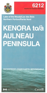Picture of Lake of the Woods - Kenora To Aulneau Peninsula Nautical Chart (#6212)